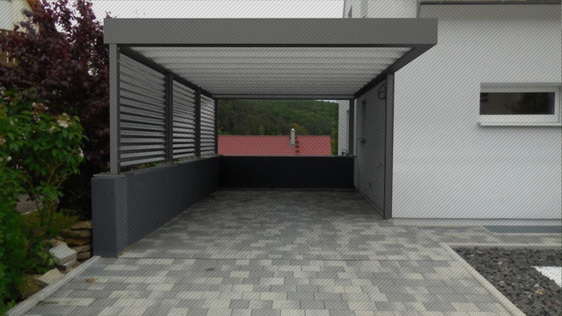 Entwurf planung Ausführung Metall Carport Design Stahlcarport
