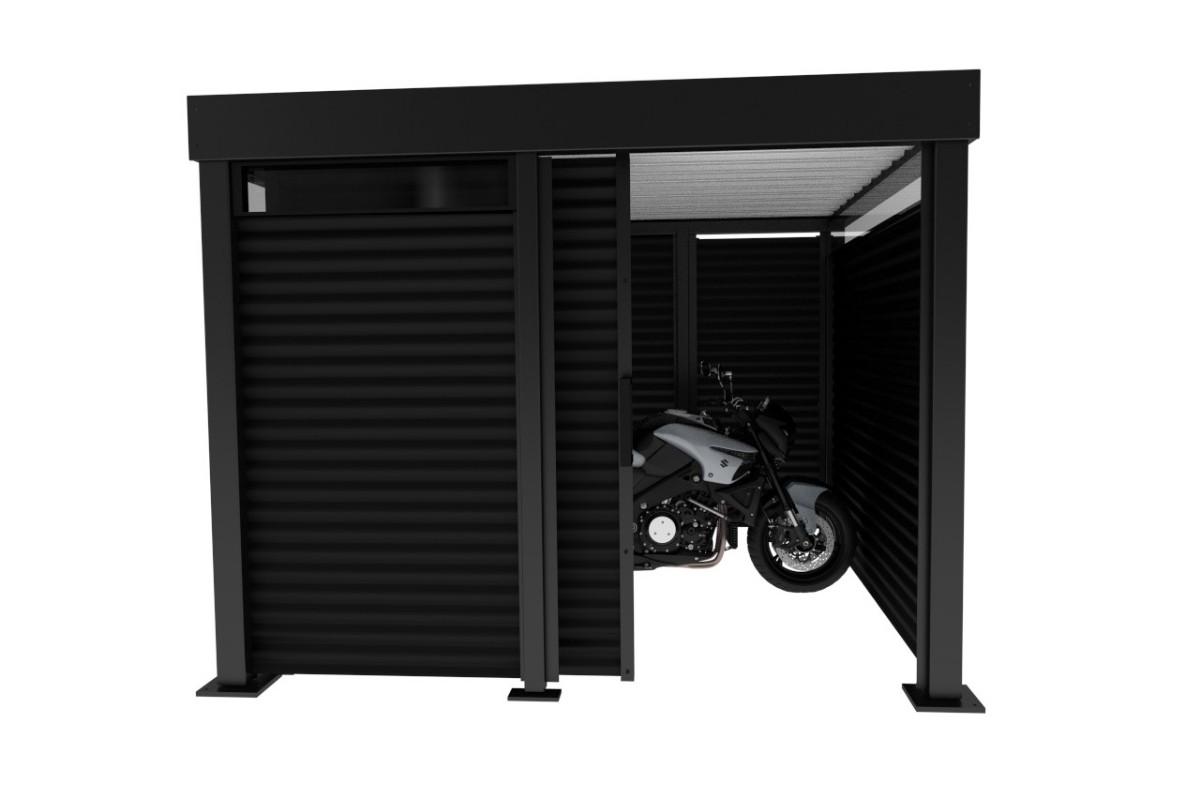 Design Motorradgarage Motorradcarport